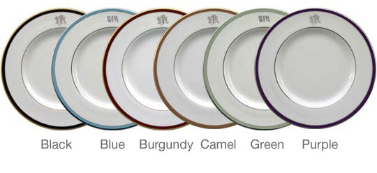 Plate banding colors  sc 1 st  Pickard Monogrammed and Custom Pickard China and Fine Dinnerware ... & Pickard: Monogrammed and Custom Pickard China and Fine Dinnerware ...