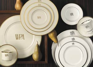 Monogram tableware