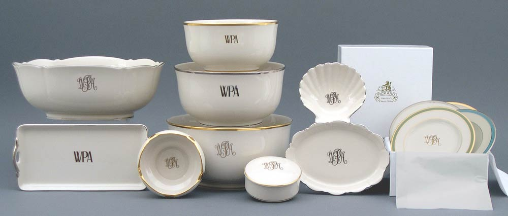 pickard  monogrammed and custom pickard china and fine dinnerware made in america