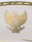 Gold logo detail