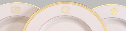 Custom dinnerware with logos