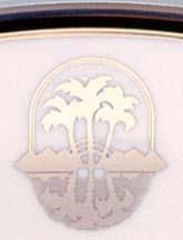 Black and platinum logo detail