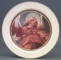 Angel Playing Violin Plate