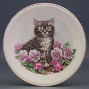 Cat & Flowers Plate