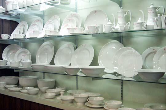 undecorated china