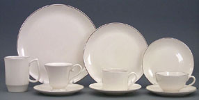 Platinum Banded Place Setting